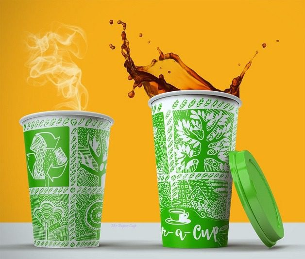 Single Colour Printed Paper Cup