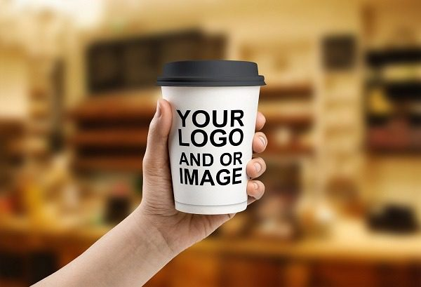 Logo on custom printed paper cups