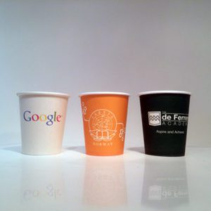 custom printed single wall paper cups
